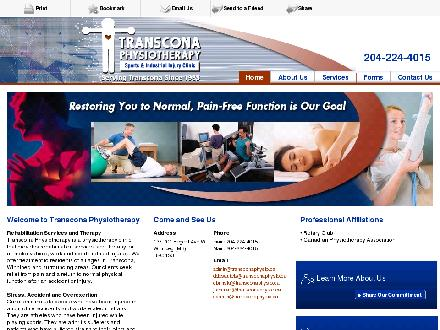 Transcona Physiotherapy Sports and Industrial Injury Clinic (204-224-4015) - Onglet de site Web - http://www.transconaphysio.ca
