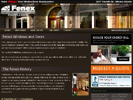 Fenex Windows & Doors (613-701-2595) - Onglet de site Web - http://www.fenex.ca
