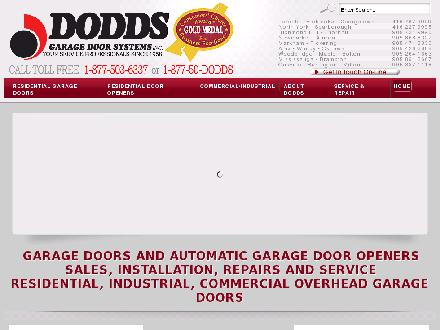 Dodds Garage Door Systems Inc (647-955-5939) - Website thumbnail - http://www.doddsdoors.com