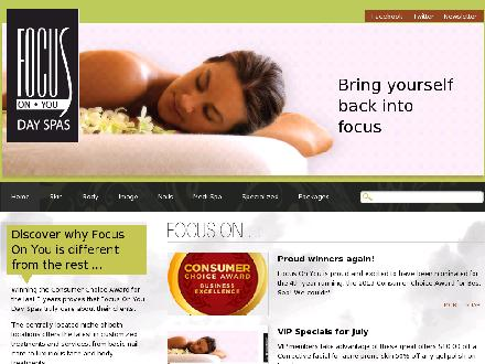 Focus On You (780-424-2487) - Website thumbnail - http://www.focusonyouspa.ca