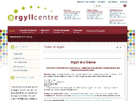 Argyll Home Education Services Centre (780-465-1299) - Onglet de site Web - http://www.argyll.epsb.ca