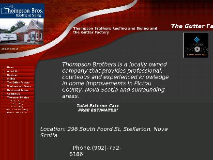 Thompson Bros Roofing &amp; Siding Ltd (902-752-8186) - Onglet de site Web - http://www.thompsonbros.ca