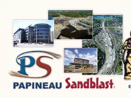 Papineau Sablage au jet Inc (450-448-9222) - Onglet de site Web - http://www.papineausandblast.com