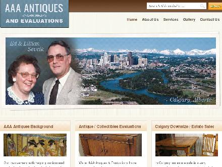 AAA Antiques And Evaluations (403-249-0377) - Website thumbnail - http://www.aaaantiquesandevaluations.com