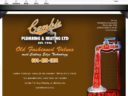 Cambie Plumbing &amp; Heating Ltd (604-696-4630) - Onglet de site Web - http://cambieplumbing.com/