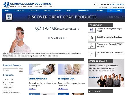 Clinical Sleep Solutions (604-875-1440) - Onglet de site Web - http://www.clinicalsleep.com