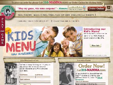 Mamma's Pizza (310-6266) - Website thumbnail - http://www.mammaspizza.com