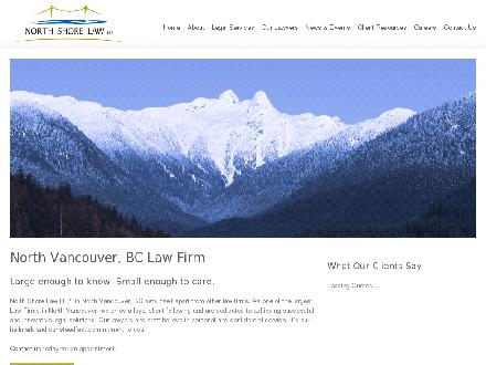 North Shore Law LLP (604-980-8571) - Website thumbnail - http://www.northshorelaw.com