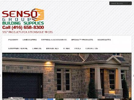 Senso Building Supplies Ltd (416-658-8300) - Onglet de site Web - http://www.sensogroup.ca