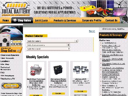 Total Battery (705-726-6660) - Website thumbnail - http://www.totalbattery.com