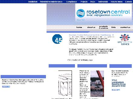 Rosetown Central Refrigeration & Air Conditioning Ltd (1-888-645-9713) - Onglet de site Web - http://www.rosetowncentral.com