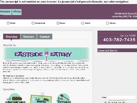 Eastside Eatery (403-782-7435) - Website thumbnail - http://eastsideeatery.ca/