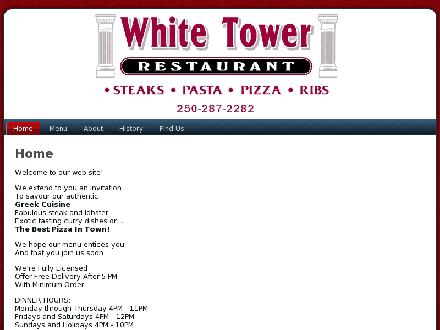 White Tower Restaurant (250-287-2282) - Website thumbnail - http://www.whitetower.ca