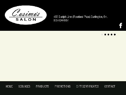 Cosimo's Salon (Cosmo's) (905-634-6651) - Onglet de site Web - http://www.cosimossalon.com