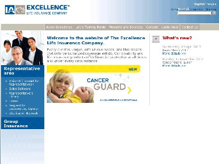 L'Excellence Compagnie d'Assurance-Vie (514-327-0020) - Onglet de site Web - http://www.iaexcellence.com