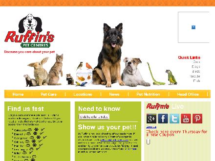 Ruffin's Pet Nutrition Centre (289-878-4000) - Onglet de site Web - http://www.ruffinspetnutrition.com