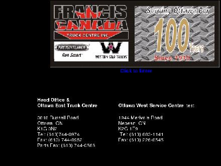 Francis Canada Truck Centre Inc (613-744-0974) - Onglet de site Web - http://www.freightlinerofottawa.com
