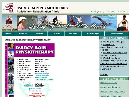 D'Arcy Bain Physiotherapy (204-694-2337) - Website thumbnail - http://www.physiotherapynet.ca