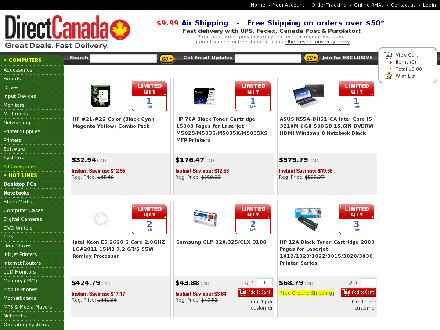 directcanada.com - Onglet de site Web - http://www.directcanada.com