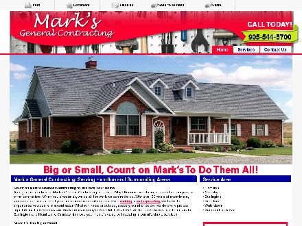 Mark's General Contracting (905-544-5700) - Onglet de site Web - http://www.marksgeneralcontracting.com