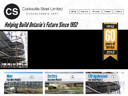 Cooksville Steel Ltd (905-277-9538) - Website thumbnail - http://www.cooksvillesteel.com