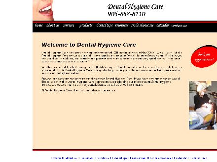 Dental Hygiene Care (905-868-8110) - Onglet de site Web - http://www.dentalclean.ca