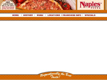 Naples Pizza (519-322-2211) - Website thumbnail - http://www.naplespizza.com