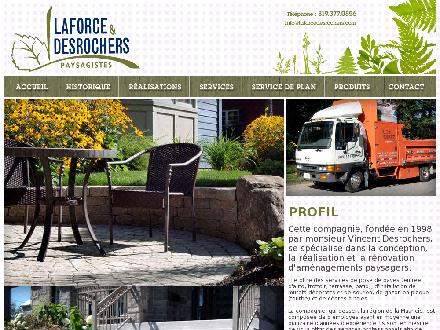 Laforce Desrochers Paysagistes (819-801-0133) - Website thumbnail - http://www.laforcedesrochers.com