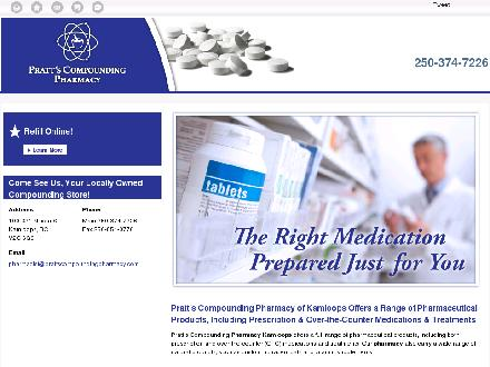Pratt's Compounding Pharmacy (250-374-7226) - Website thumbnail - http://prattscompoundingpharmacy.com