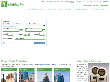 Holiday Inn Winnipeg Airport West (204-885-4478) - Website thumbnail - http://www.holidayinn.com