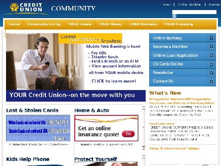 Community Credit Union Ltd (902-667-7541) - Onglet de site Web - http://www.communitycreditunion.ns.ca