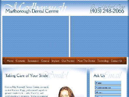 Marlborough Dental (403-248-2066) - Onglet de site Web - http://www.marlboroughdentalcentre.com