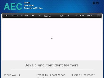 Adult Education Centres (AEC) (204-953-0818) - Onglet de site Web - http://www.adult-education.ca