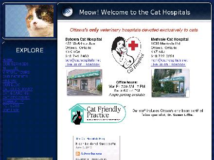 Bytown and Merivale Cat Hospital (613-741-2460) - Onglet de site Web - http://www.cathospitals.net/