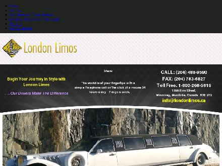 London Limos (204-800-1068) - Onglet de site Web - http://londonlimos.ca