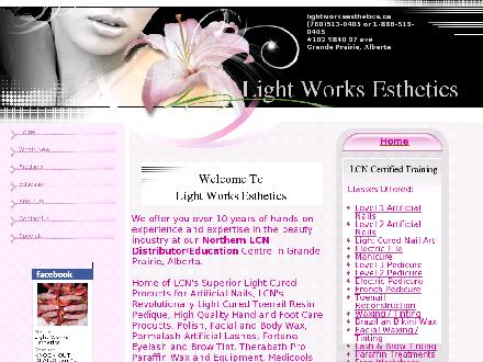 Light Works Esthetics Ltd (780-513-0405) - Onglet de site Web - http://www.lightworksesthetics.ca