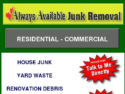Always Available Junk Removal (403-619-5955) - Onglet de site Web - http://www.alwaysavailablejunkremoval.com