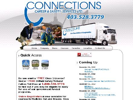 Connections Career & Safety Services Ltd (403-528-3779) - Website thumbnail - http://www.safetyconnections.ca
