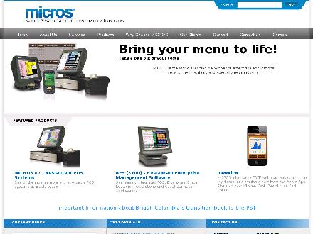 MICROS-Fidelio Canada Ltd (204-453-7777) - Onglet de site Web - http://www.microscanada.com
