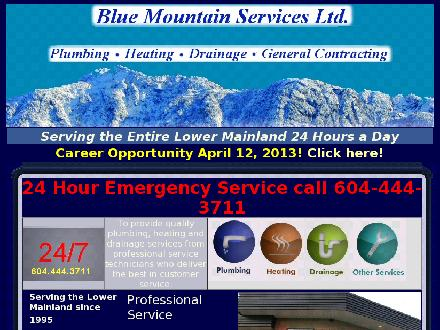 Blue Mountain Services Ltd (604-444-3711) - Website thumbnail - http://www.bluemountainservices.com