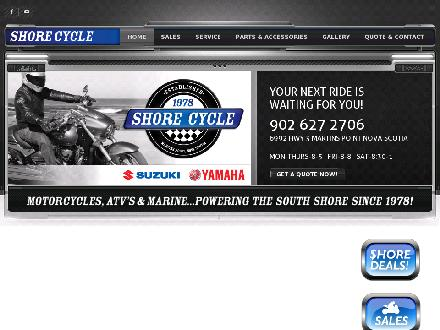 Shore Cycle Ltd (902-627-2706) - Website thumbnail - http://www.shorecycle.com