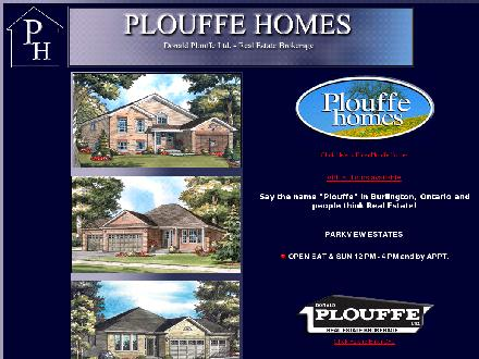 Donald Plouffe Real Estate Brokerage (905-632-5940) - Onglet de site Web - http://www.plouffehomes.ca