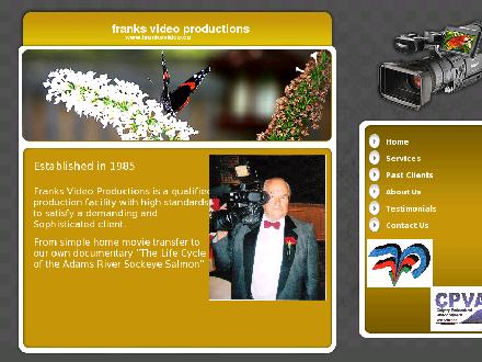 Frank's Video Productions (403-252-8075) - Website thumbnail - http://www.franksvideo.ca