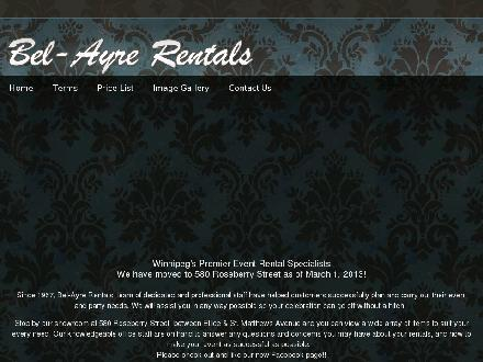 Bel-Ayre Rentals Ltd (204-786-8975) - Website thumbnail - http://www.belayrerentals.com