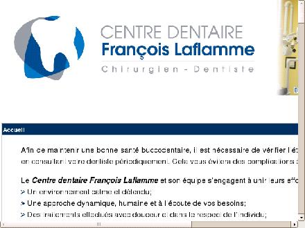 Centre Dentaire Fran&ccedil;ois Laflamme (819-845-4945) - Onglet de site Web - http://www.dentistefrancoislaflamme.com