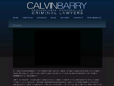 Calvin Barry (416-364-1224) - Website thumbnail - http://www.calvinbarry.ca