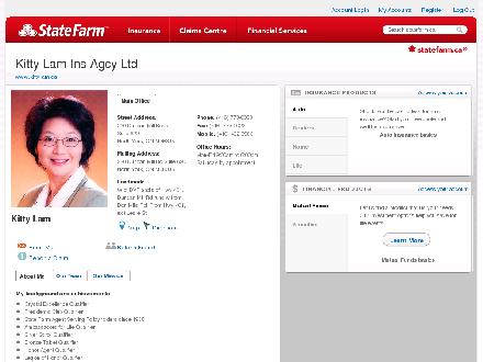 Kitty Lam Ins Agcy Ltd - State Farm Insurance Agent (416-773-0033) - Website thumbnail - http://STATEFARM.MQGROUP.COM/URL.ASP?u=602062