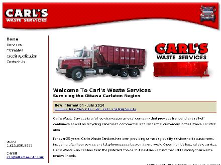 Carl's Waste Services (613-800-5907) - Onglet de site Web - http://www.ottawawaste.com