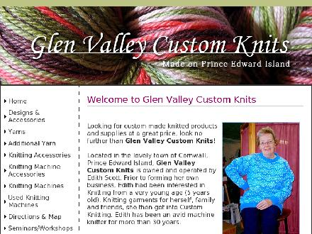 Glen Valley Custom Knits (902-628-6365) - Website thumbnail - http://www.glenvalleyknits.com