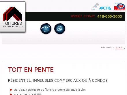 Toitures Du St-Laurent (418-660-3003) - Onglet de site Web - http://www.toituresdustlaurent.com